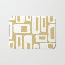 Retro Mid Century Modern Abstract Pattern 335 Gold Bath Mat