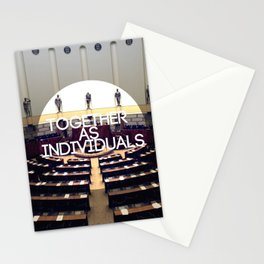 Together As Individuals Stationery Cards