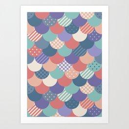 Mermaid Quilt Art Print