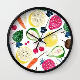 Veggie Heaven #society6 #society6artprint #buyart Wall Clock