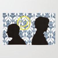 221b Area & Throw Rugs featuring 221B (BBC Sherlock) by Marie | Gib