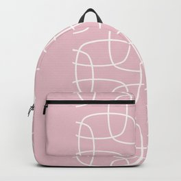 Square Pattern Pink II Backpack