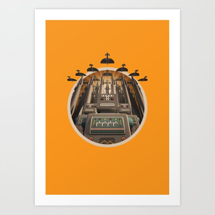 Robots Unite! crest variant Art Print