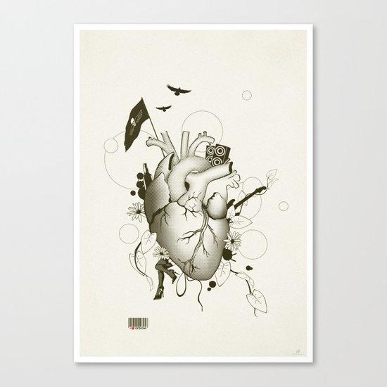I Love Design Canvas Print