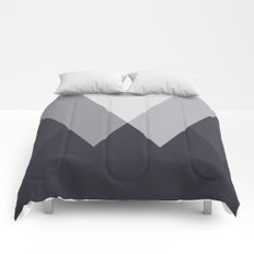 Sawtooth Inverted Blue Grey Comforters