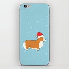 Santa Corgi iPhone & iPod Skin