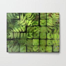 FERN LEAVES collage Metal Print
