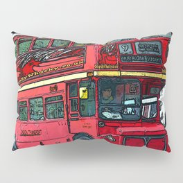 London Bus bywhacky Pillow Sham