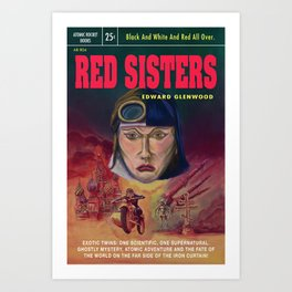 """Red Sisters"" Book Cover Art Print"