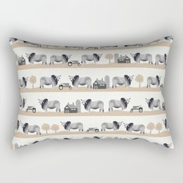 Brahman cattle breed farm gifts cow homestead animal sanctuary Rectangular Pillow
