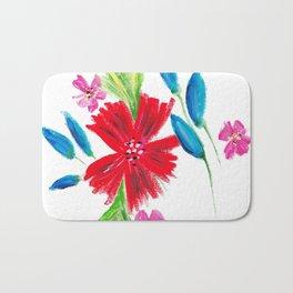 Vintage Floral Spray Bath Mat