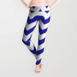 Chevron (Navy & White Pattern) Leggings