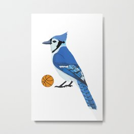 Basketball Blue Jay Metal Print