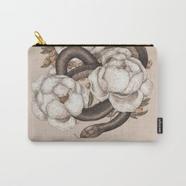 Snake and Peonies Carry-All Pouch
