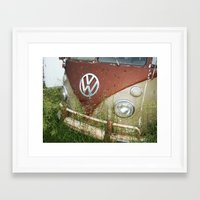 volkswagon Framed Art Prints featuring VOLKSWAGON by Andrea Jean Clausen - andreajeanco