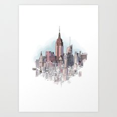 New York cityscape - Architectural illustration Art Print
