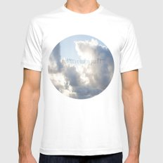 On Earth there is no Heaven ♥ White SMALL Mens Fitted Tee