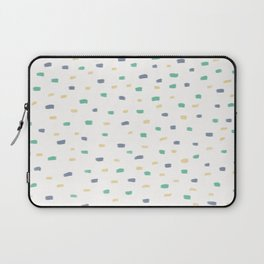 Biscay Green Faded Denim Sunlight Square Pattern Laptop Sleeve