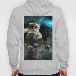 Space Puss saves the World Hoody