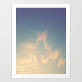 Wandering in the clouds Art Print