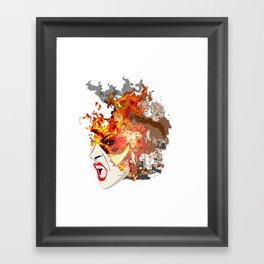 Fire- from World Elements Series Framed Art Print