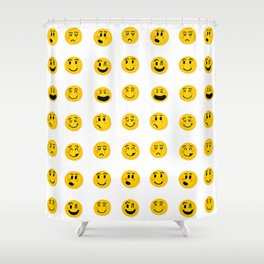 Cute Emoji pattern Shower Curtain