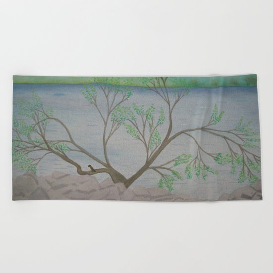 Banks of the Canal Beach Towel