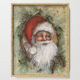 Rustic Santa Claus Serving Tray