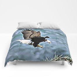 BALD EAGLE NESTING Comforters