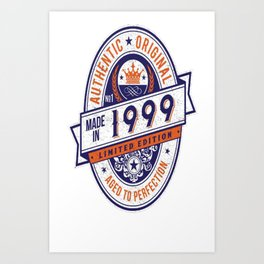 Made-In-1999-Birthday-T-Shirt-18th-Birthday-Gift-Idea Art Print