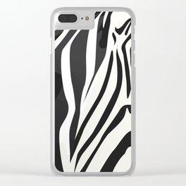 a zebra head portrait Clear iPhone Case