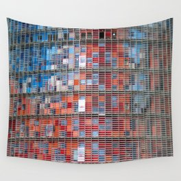 Agbar Tower Barcelona Wall Tapestry