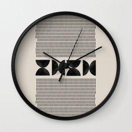 Mid Century Modern Geometric Wall Clock