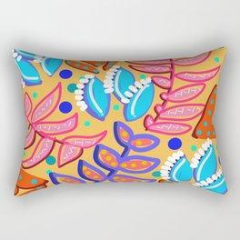 Whimsical Leaves Pattern Rectangular Pillow