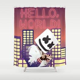 MARSHMELLO HELLO WORLD TOUR DATES 2019 RISOL Shower Curtain