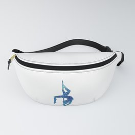 Pole dancer underwater Fanny Pack