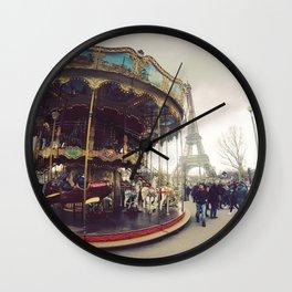 Paris Merry Go Round Wall Clock