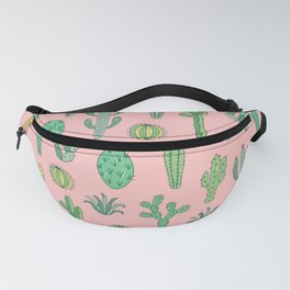 Cactus Pattern Pink Fanny Pack