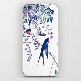 Swallow and Wisteria iPhone Skin