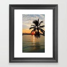 Maledives - Sunset Framed Art Print
