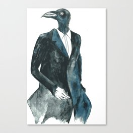 Bird in a suit Canvas Print