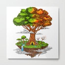 Tree Of Life Zen Meditation Metal Print