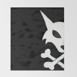 Crest of the Wolf Pirates Throw Blanket