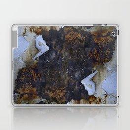 Old white paint on rusty metal Laptop & iPad Skin