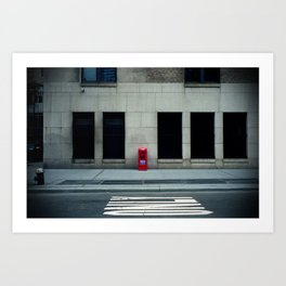 Manhattan Street Minimalism Art Print
