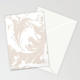 Marble Swirls - White Stationery Cards