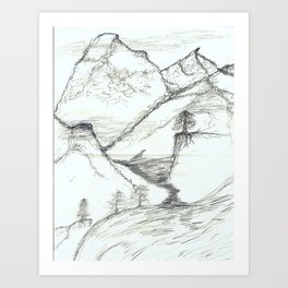 The Mountains of my Dreams Art Print