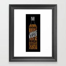 Typographical Johnnie Walker Framed Art Print