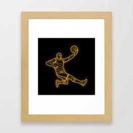 Basketballer Framed Art Print