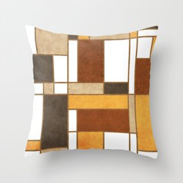 Mondrian Composition 2 - Abstract Expressionism Throw Pillow